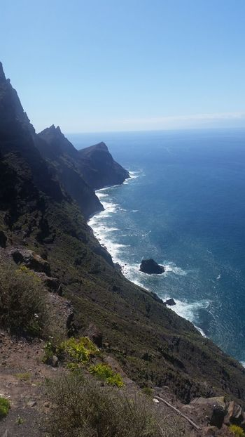 Sea Mountain Coastline Beauty In Nature Cliff Blue Water Clear Sky