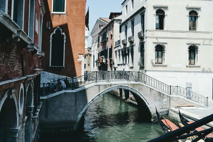 EyeEm Selects Architecture Built Structure Building Exterior Bridge - Man Made Structure Water Gondola - Traditional Boat No People City Outdoors Venice, Italy Venice Canals And Waterways Architecture Architecture_collection