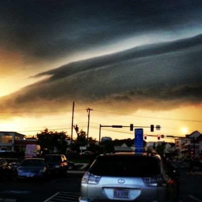 Crazy cloud before yesterday's storm. Thunderstorms Clouds Storm Neatoburrito