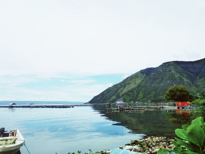 Lake Lake View Lake Toba Water Sea Beach Nautical Vessel Tree Rural Scene Sky Archipelago Lagoon Rocky Coastline Volcanic Rock Horizon Over Water Sailboat Moored Mast Volcanic Landscape