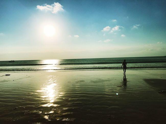 Sunset Beach Sea Beauty In Nature Bali INDONESIA Seabreeze