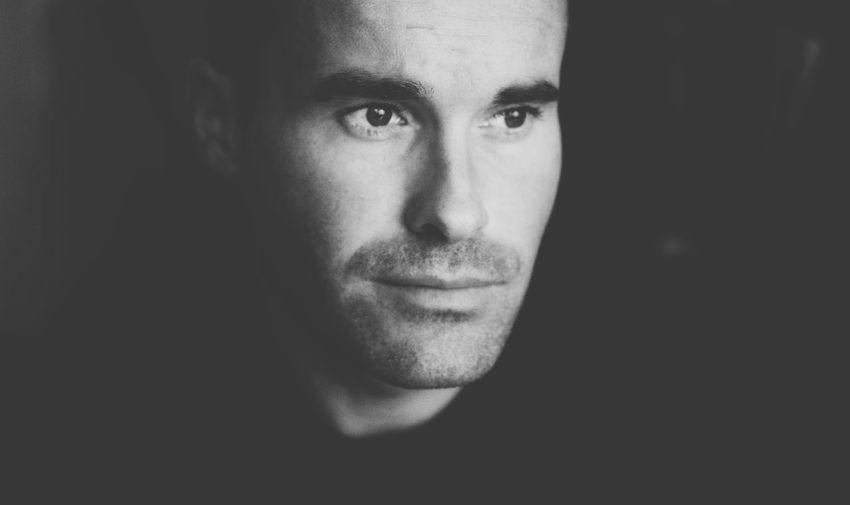 Close-Up Of Handsome Mid Adult Man In Darkroom