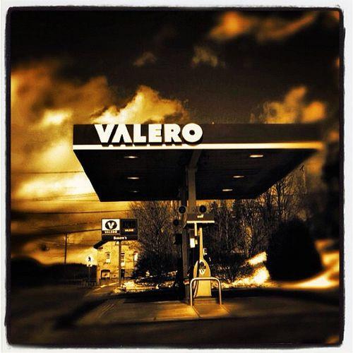 Valero it is. #btv #vt Miltonvt Vt_scene Structure Valero Station Creative Gas Sepia Surreal Oil Vermont Pump Vt Btv Vt_scenery Gas_station Milton_vt