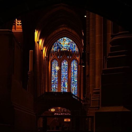 Liverpoolcathedral (4/6) View of the Stainedglasswindows through arches near the Lady Chapel Cathedral Arch Architecture Stainedglass Candle Framed Vaultedceilings Itsliverpool Visitliverpool Igersmersey Thepurist Nofilter Fiftyshades_of_history Lowlight Thepurist Nofilter