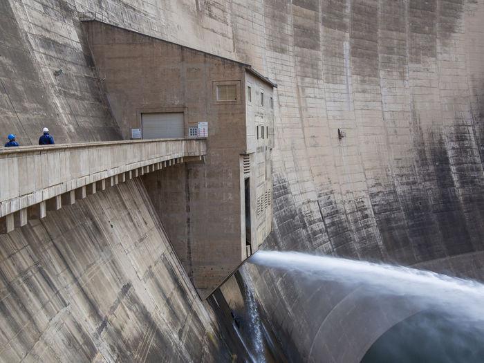 Hydroelectric Power Hydro Power Dam Hydro Power Plant Lesotho Katsedam Katse Dam African Africa Concrete Concrete Wall Cement Reservoir Solid