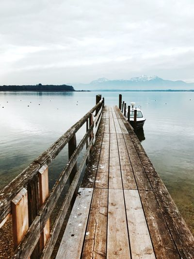 Long Goodbye Sea And Sky Mountains Boat Landing Stage Jetty Chiemsee Landscape_photography Landscape