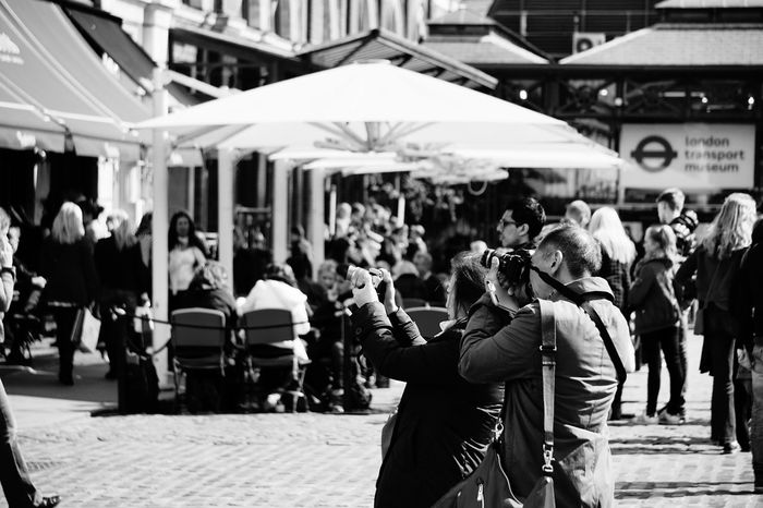 1848 Black & White Black And White Black And White Photography Black&white Blackandwhite Blackandwhite Photography Blackandwhitephotography Cameras City City City Life Day Focus On Foreground Large Group Of People Lifestyles Men Outdoors People Photographers Real People Walking Women The Street Photographer - 2017 EyeEm Awards The Portraitist - 2017 EyeEm Awards BYOPaper! The Photojournalist - 2017 EyeEm Awards