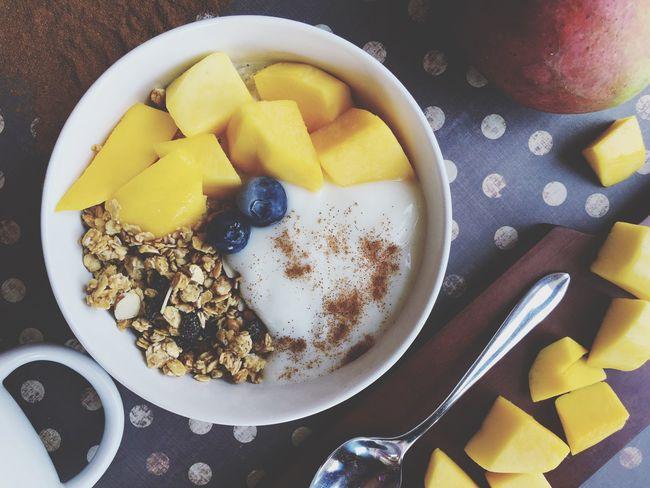 Flatlay Yogurt♡♡♡♡♡ Foodphotography Foodporn Food Granola Yogurt Berries Fruit Berry Snack Time! Breakfast Frozen Cold