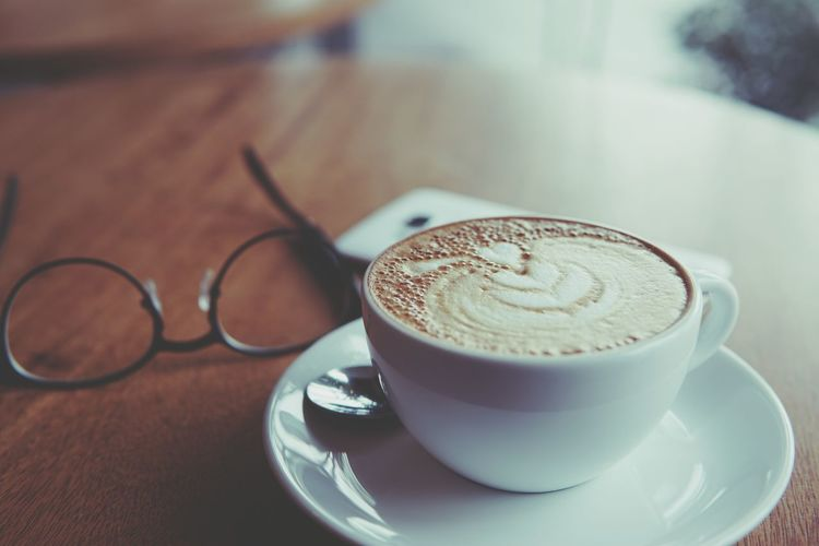 Coffee - Drink Coffee Cup Food And Drink Freshness Frothy Drink Selective Focus Refreshment Latteart Capuccino