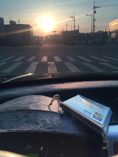 Sunset Sunset_collection ND Filter My Car Signal Waiting Hello World Hi! Taking Photos Iphone6+ Iphone6plus