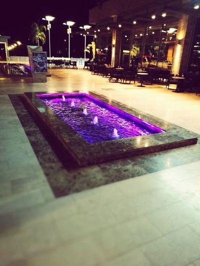 My Year My View Purple Illuminated Outdoors Flower Night Water Fountain HuaweiP9plus