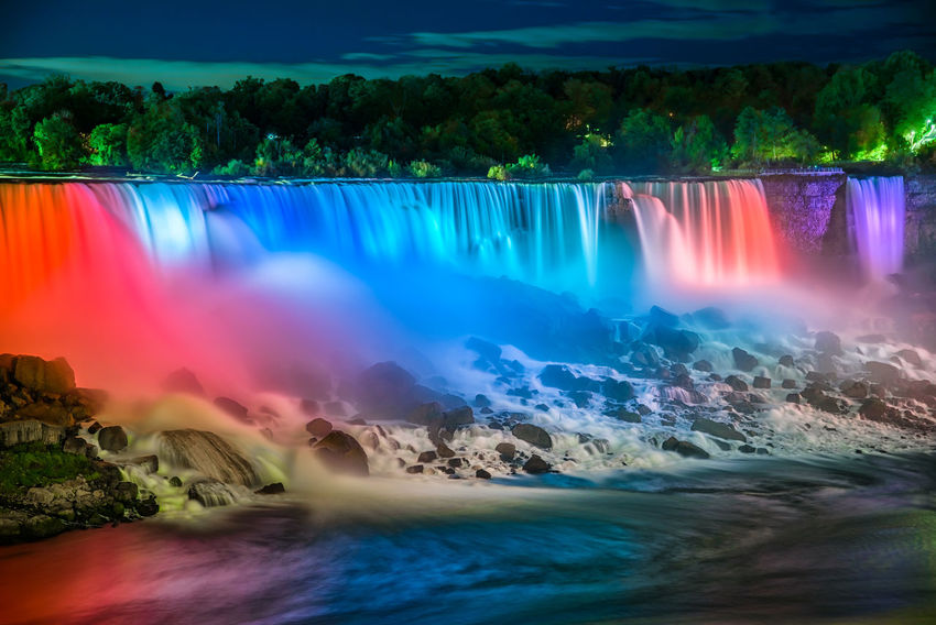 American Falls, Niagara Awesome Colors Awesome Colours Misty Niagara Niagara Falls Canada Niagara Falls NY Ontario, Canada Beautiful Colors Beautiful Colours Beauty In Nature Blurred Motion Canada Long Exposure Mist Motion Multi Colored Nature No People Outdoors River Scenics Sky Tree Water Waterfall