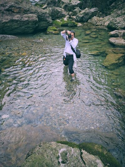 The Great Outdoors - 2017 EyeEm Awards Real People Outdoors Day Togetherness Standing Men Lifestyles Nature People Water Adults Only The Human Condition Leisure Activity Young Adult Looking At Camera Live For The Story
