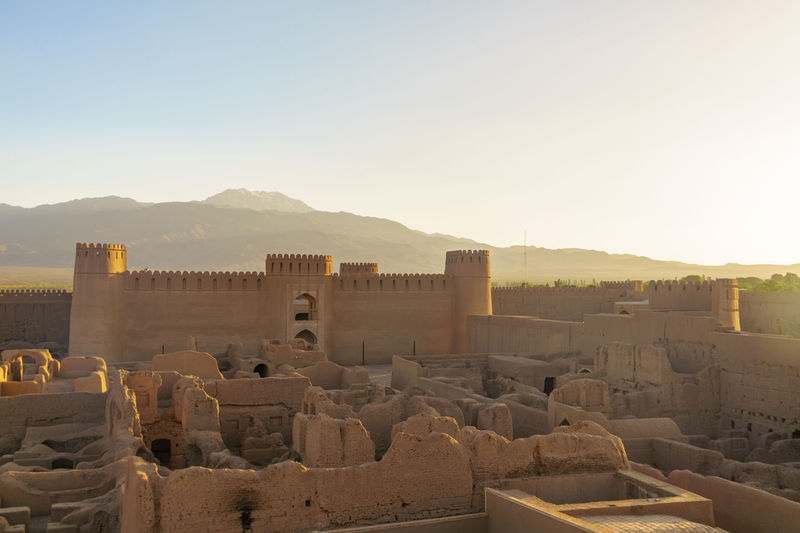 Ancient Ancient Civilization Architecture Building Exterior Built Structure Castle Clear Sky Day History Iran♥ Mountain Mountain Range Nature No People Old Ruin Outdoors Rayen Rayene Rayenne Sky Travel Destinations