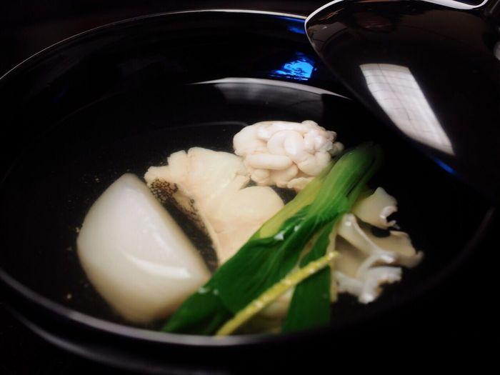 Enjoying A Meal Japanese Food 吸い物