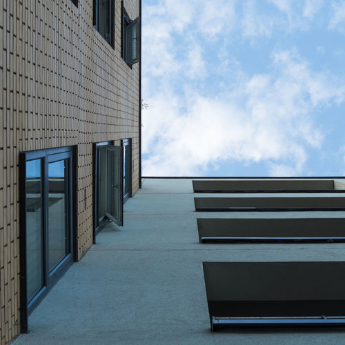 Blue Square Square Absence Architecture Building Building Exterior Built Structure City Cloud - Sky Day Directly Below Low Angle View Modern Nature No People Outdoors Sky Sunlight Window
