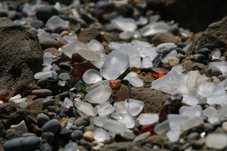 Abundance Close-up Glass Artwork Glass Beach Multi Colored Pebble Mutli Color Pebble Pebble Beach Work Of Nature