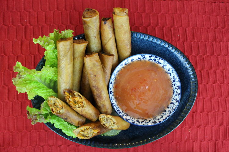 Close-up Filipino Food Food Food And Drink Freshness Lumpia, No People Ready-to-eat