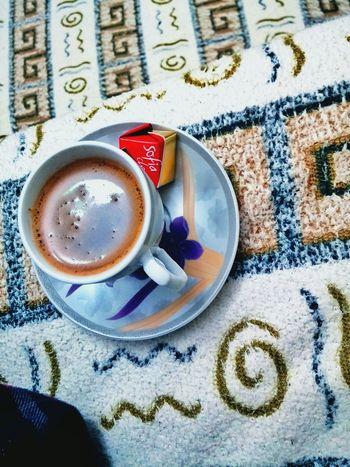 Turkkahvesicandir Coffee Coffee Time Turkishcoffee Delicious Immm Chocolate Hihi♡ Drink Coffee ☕