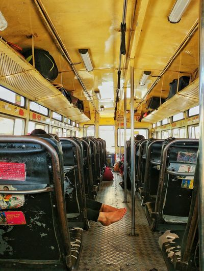 Train in bus