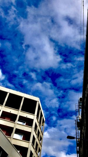 Blue sky February Bluesky Sunyday Sun Sky Cloud - Sky Low Angle View No People Built Structure Day Architecture Outdoors Blue