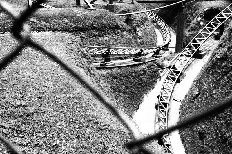Roallercoasters Blackandwhite Black White Park Different Shadow The Way Forward No People Road Architecture Nature Transportation Excitement