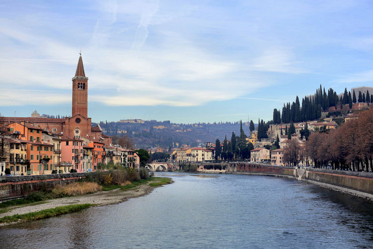 Architecture Built Structure City Day History Italian River Italy Landscape No People River River Blue Sky Town Verona Verona Italy