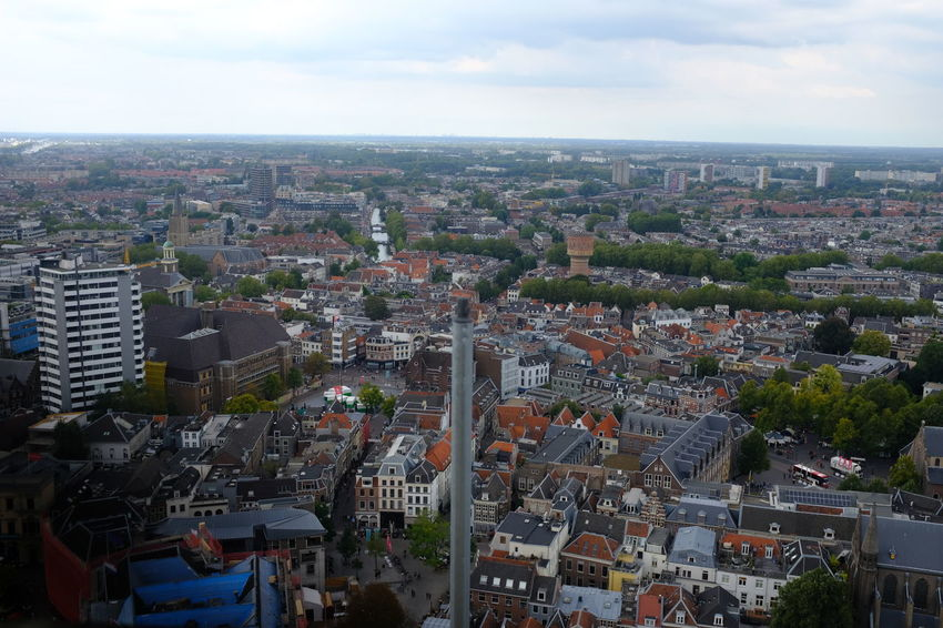 Dom Tower Dom Toren Aerial View Architecture Building Building Exterior Built Structure City Cityscape Cloud - Sky Community Crowd Crowded Day High Angle View Horizon Location Nature Outdoors Place Residential District Settlement Sky Town TOWNSCAPE