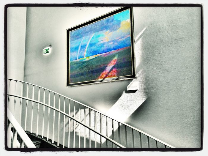 Art in our staircase! Art Staircase Museum