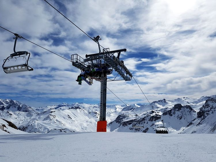 Over the alps Tignes Le Lac Sky Cold Temperature Mountain Winter Ski Holiday Skiing 🎿 EyeEmNewHere Eyeemselects
