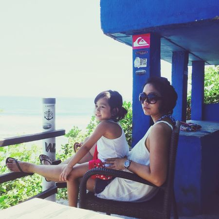 Mom and me — Priceless Relaxing My Girl Beach Holiday