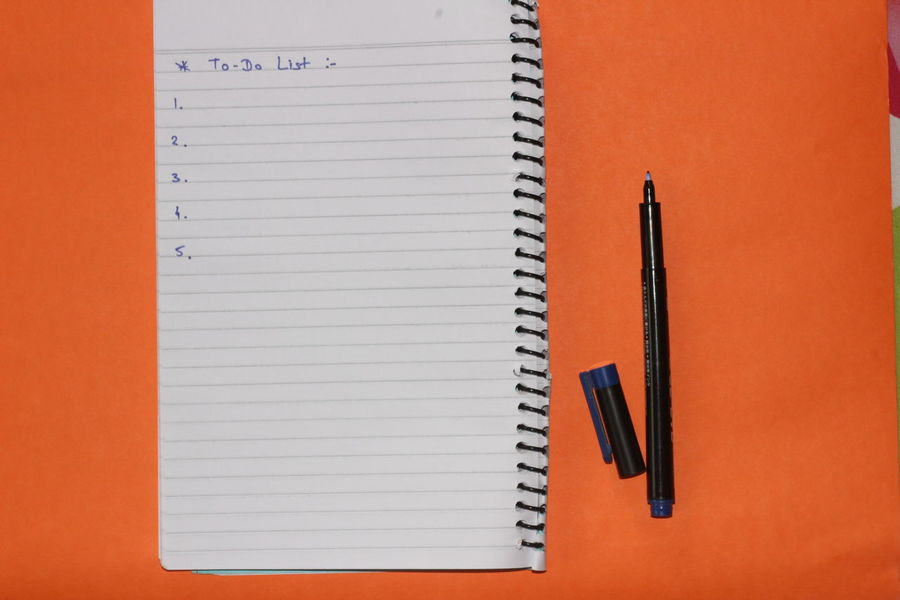 Blank Book Close-up Day Diary Directly Above Education Indoors  Lined Paper No People Note Pad Office Supply Open Page Paper Pen Pencil Ring Binder Spiral Notebook Table Writing