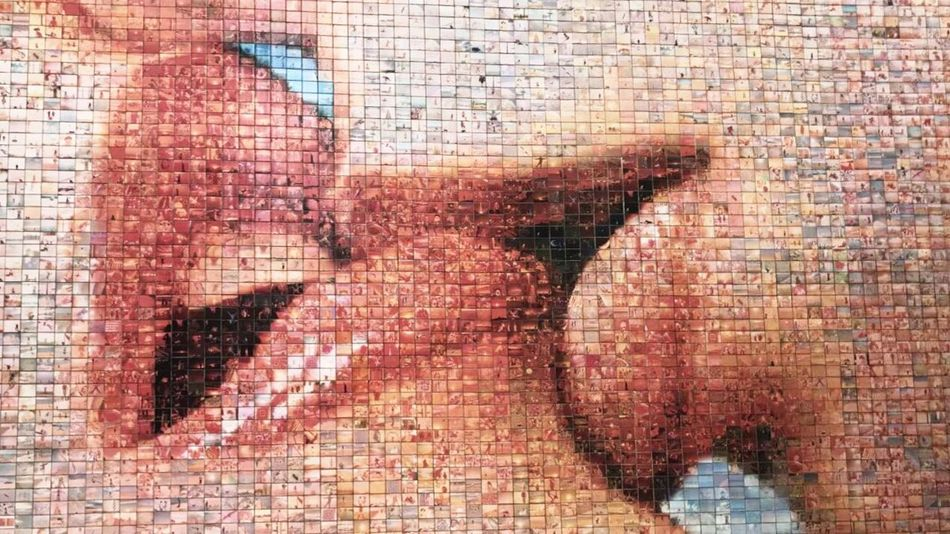 Brick Wall Textured  Painted Image Technology Human Body Part One Person Only Women Architecture People Adult One Woman Only Day Pixelated Young Adult Adults Only Close-up Outdoors EyeEmNewHere