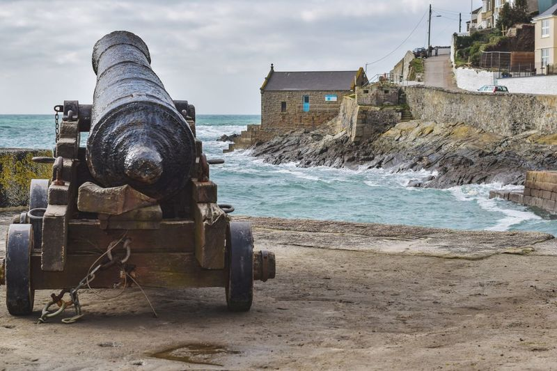 Porthleven Harbour and its history Canon Porthleven Harbour Britain Cornwall Sea Harbour View Harbour Wall Metal Industry Manufacturing Equipment Business Finance And Industry Ocean
