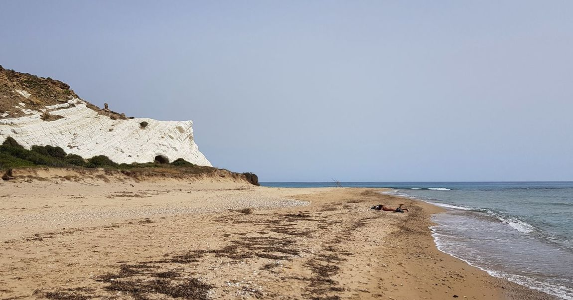Agrigento Panoramic Photography Panoramic Landscape Agrigento Sicily Water Sand Dune Sea Beach Sand Summer Wave Blue Clear Sky Cliff