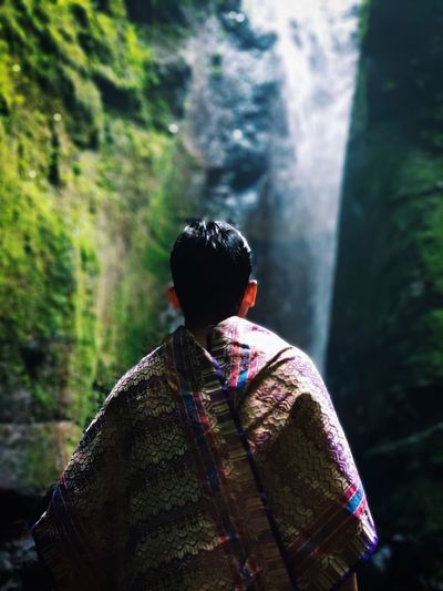 nature #nature #hill #mount #indonesian #travel #traveling #holiday Multi Colored Waterfall Adventure Mountain Men Water Rear View Wilderness Area Hiker River Explorer Riverbank Riverside Forked Lightning Flowing Flowing Water Human Back First Eyeem Photo