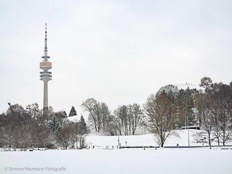 Winter in Munich Winter Wintertime Parks EyeEm Munich Morning Sky Snow Olympiapark