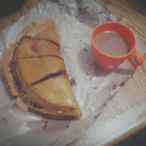 Coffee morning,.. Apam (Martabak) + whie coffee... Whitecoffee Martabak Breakfast
