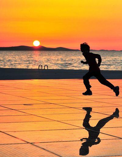 A child running
