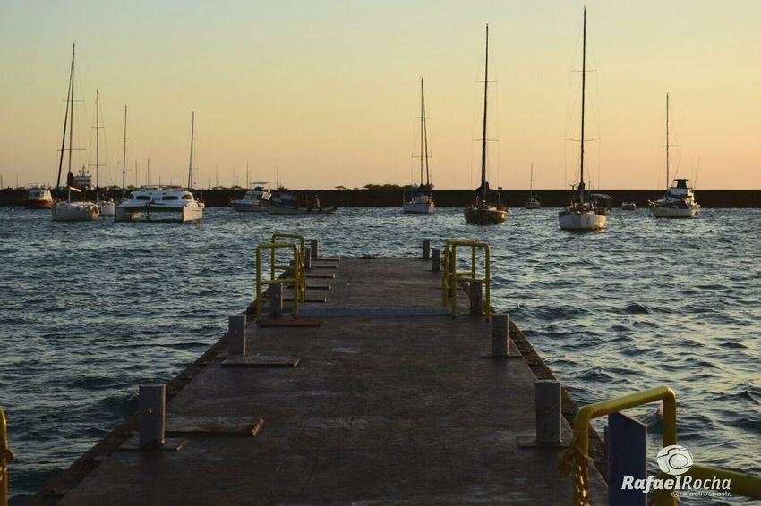Cais Nautical Vessel Sea Sunset Nature Salvador Bahia Cais