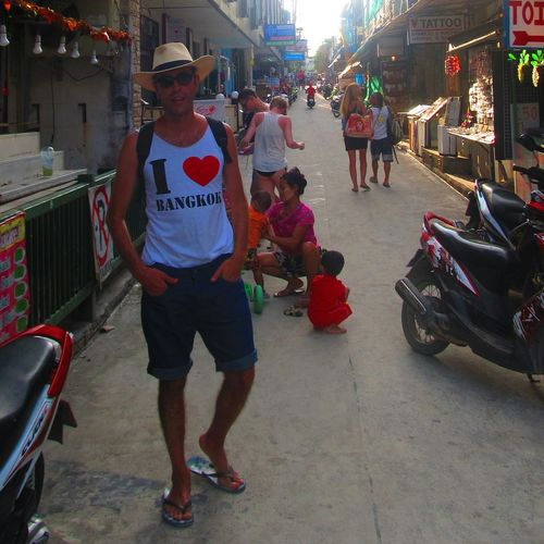 Khophangan Thailand Fullmoon Party Traveling Voyager Ilovebangkok That's Me Hi! Hello World