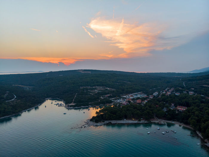 Sky Water Cloud - Sky Sunset Scenics - Nature Architecture Beauty In Nature Nature City No People High Angle View Built Structure Building Exterior Mountain River Tranquility Outdoors Plant Waterfront Cityscape Bay Drone  Dronephotography Dji DJI Mavic Air Aerial View Aerial Shot Aerial Photography