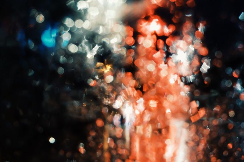 beauty blurred bokeh background. Rain Vehicle Car Night Illuminated Defocused Full Frame No People Backgrounds Glass - Material Transparent Lighting Equipment Glowing Decoration Window Celebration Christmas Lights Light Close-up Christmas Decoration Wet Christmas Outdoors