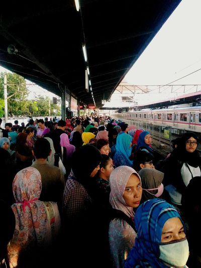 crowded and tired face at the station Train Jakarta INDONESIA Rush Hour Crowded Faces Editorial  Features Daily Life Magum Photo LeicaM9 The Street Photographer - 2016 EyeEm Awards