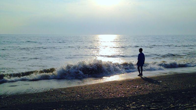 等待西沈 Sunset Image Description Language Beach