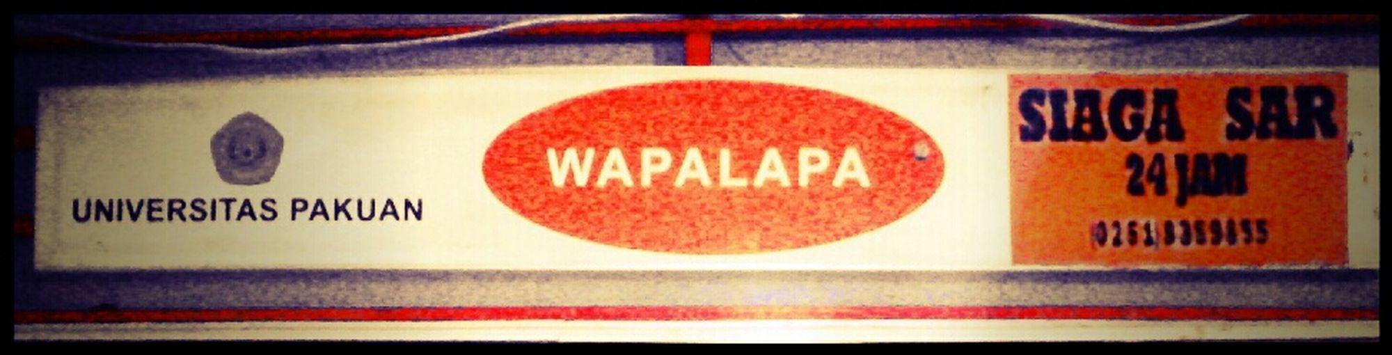 University Of Pakuan Bogor @ WAPALAPA