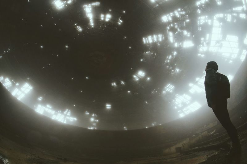 Buzludzha Bulgaria Abandoned Silhouette Astronaut Foggy Exploring Edfringe Embrace Urban Life Finding New Frontiers