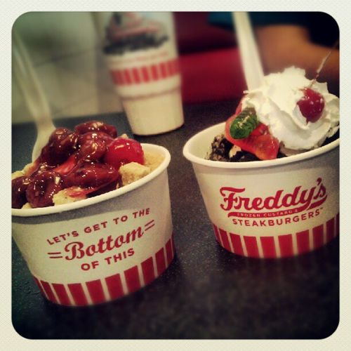 Frozen custard.