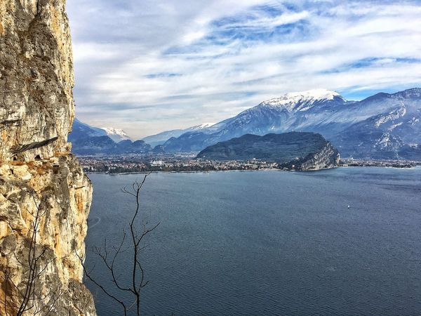 Mountain Beauty In Nature Nature Scenics Water Idyllic Mountain Range Landscape Waterfront Sky Tranquil Scene Sea Tranquility Outdoors No People Day Love ♥ EyeEm Gallery EyeEm Best Shots EyeEmBestPics Riva Del Garda Ponale Trentino Alto Adige Landscape_Collection Amore Mio ❤