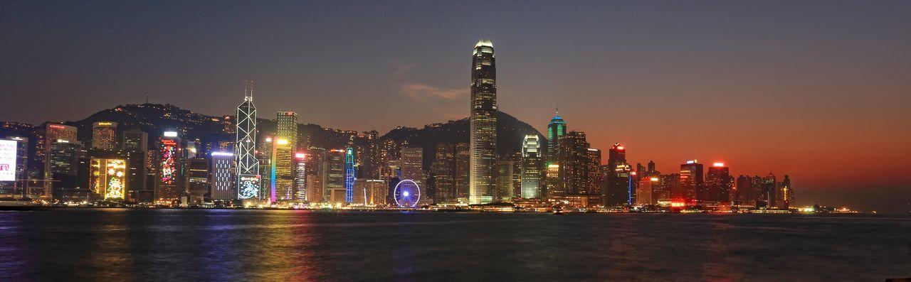 Hong Kong Hong Kong Harbour Hong Kong Victoria Harbour Sunset Pmg_hok
